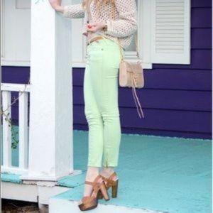 Free People Mint Green Skinny Pants
